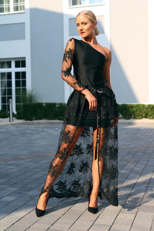 czarna sukienka z ozdobną halką 1 (Copy)
