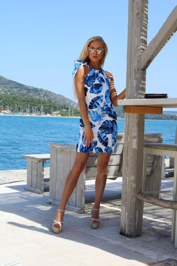 sukienka liście niebieskie 1 (Copy)