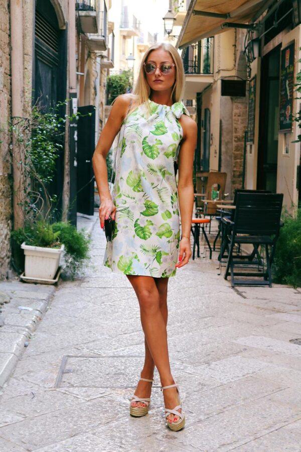 sukienka liście zielone 1 (Copy)