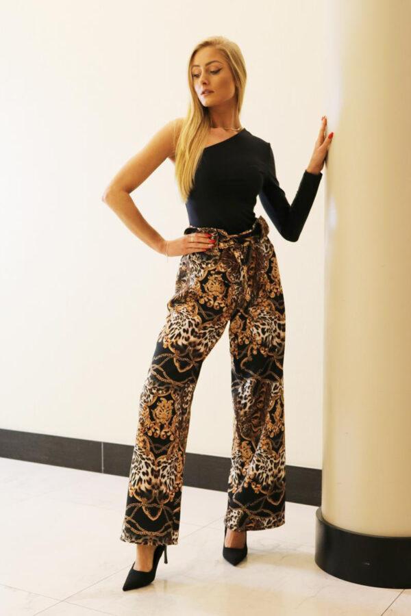 szerokie spodnie leopard 3