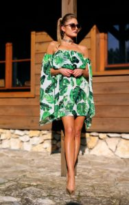 sukienka w liście 1.4