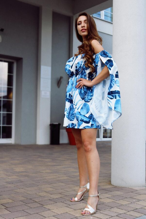 sukienka hiszpanka niebieska liście 1.3 (Copy)