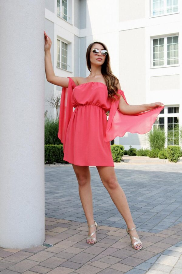 sukienka hiszpanka pastelowy róż 1.1 (Copy)