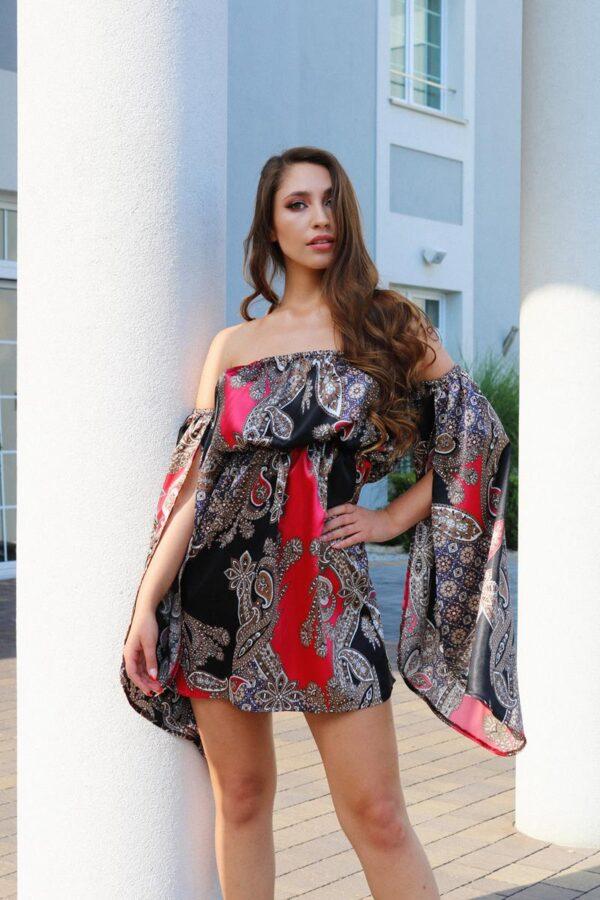 sukienka hiszpanka satynowa czerwono - czarna 1.3 (Copy)
