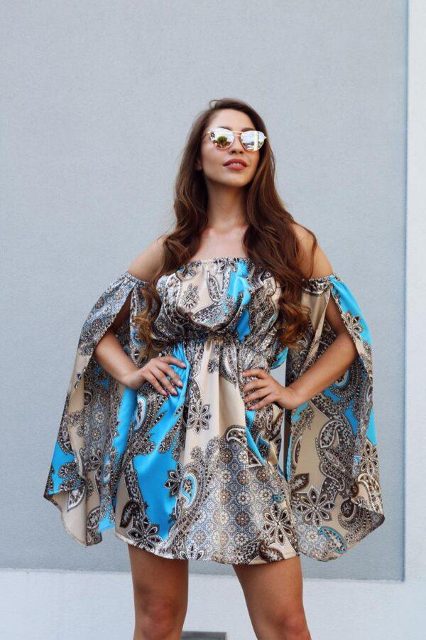 sukienka hiszpanka satynowa turkus 1.5 (Copy)