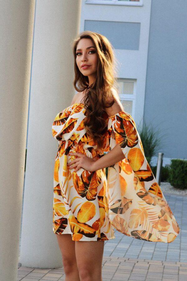 sukienka hiszpanka złota liście 1.3 (Copy)
