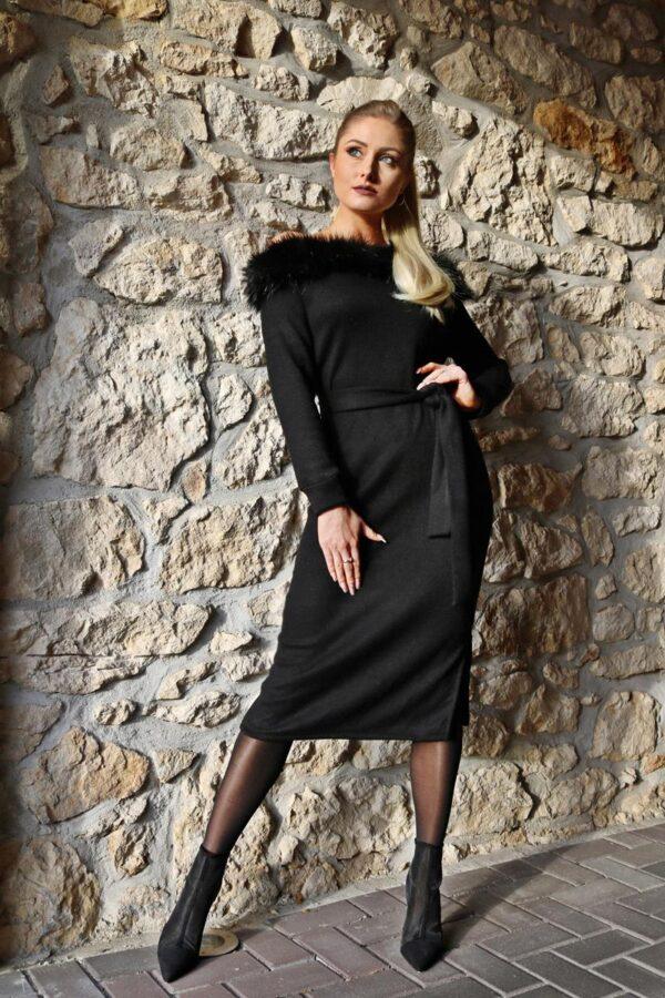 dzianinowa sukienka midi yololook 1.1 (Copy)